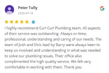 Curl Curl Plumbing - Google Review # 49